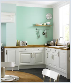 how to be bold with color | mint green kitchen, green kitchen and